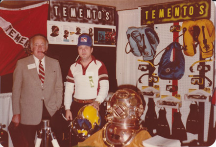 DESCO designer Thomas B. Fifield at Tementos diving show
