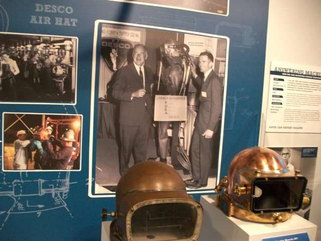 DESCO Air Hat and diving suit with Thomas Fifield