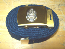 Belt Buckle - Navy Style with Mark V Helmet Logo and Belt