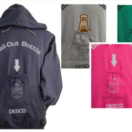 Bail out bottle hoodie sweatshirt