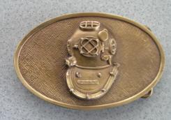U S  Navy Mark V Diving Helmet Belt Buckle | Vintage Diving