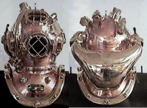U.S. Navy Helium Helmet w/Double Exhaust Valve (late version)