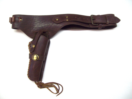 Revolver Holster & Cartridge Belt w/ Mark V Medallion