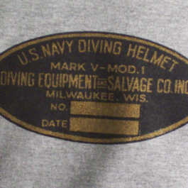 T-Shirt Salvage Tag/Mark V line Drawing