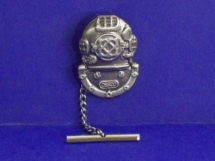 Textured Nickel Mark V Helmet Tie Tack