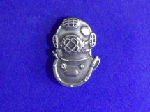 Sterling Silver Mark V Helmet Lapel Pin