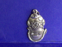Sterling Silver Mark V Helmet Charm