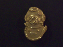 Gold Filled Mark V Helmet Lapel Pin