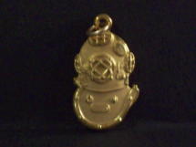 Gold Filled Mark V Helmet Charm