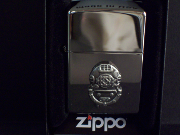 Chrome Mark V Helmet Zippo Lighter