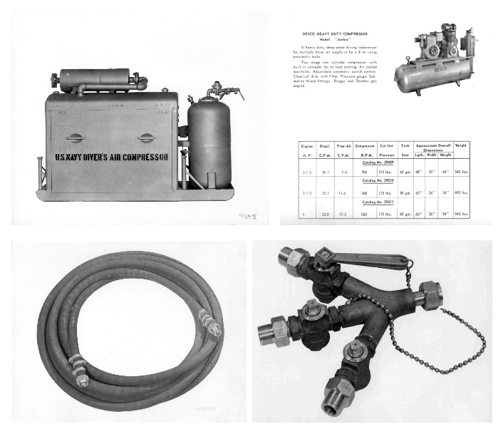 Commercial Dive Air Compressors and valves