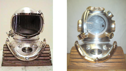 Commercial Divers Helmet 2 Variations