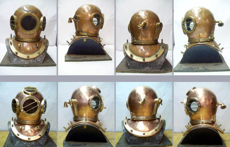 Dive Helmets Repaired and with Recast Parts like new